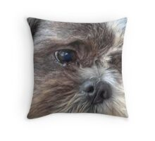 Wide Eyed Innocence Throw Pillow