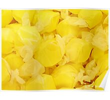 Lemon Yellow Saltwater Taffy Poster