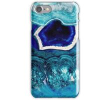 Blue Abstract Agates iPhone Case/Skin