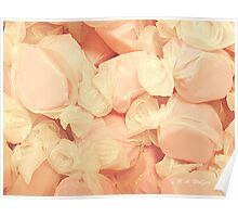 Pink Strawberry Saltwater Taffy Poster