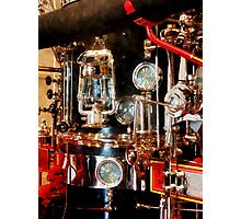 Lantern and Gauges on Fire Truck Photographic Print