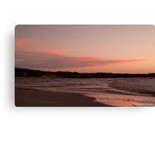 Sunset At Greenough WA Canvas Print
