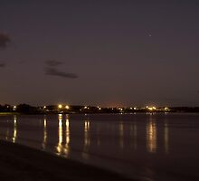 Night Shot Over Looking Greenough River WA by Tawnydal