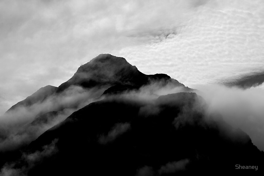 Mountains in the Mist by Sheaney
