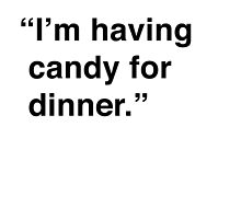 Kimmy | I'm Having Candy For Dinner by meandthemoon