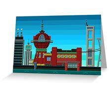 Futurama Pixelated Greeting Card