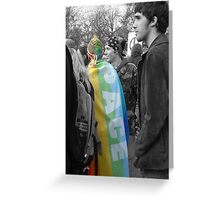 pace, peace flag Greeting Card