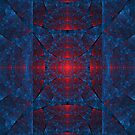 Blue and Red Elliptic  by Beatriz  Cruz