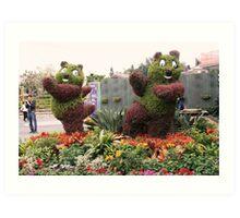 Posing Plants-Disneyland, Hong Kong Art Print