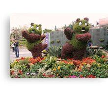 Posing Plants-Disneyland, Hong Kong Canvas Print