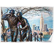 Hoboken Waterfront War Memorial Poster