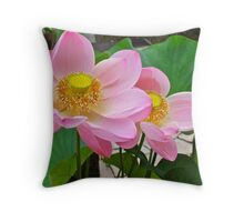 Two Water Lilies Throw Pillow