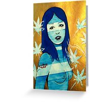 Girl With A Butterfly Tattoo  Greeting Card
