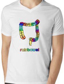 rainbowel Mens V-Neck T-Shirt