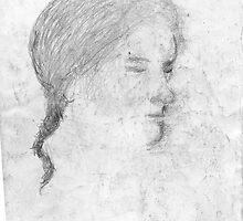 female head/drawn on bus -(240511)- pencil/A4 by paulramnora