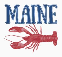 Maine Watercolor Lobster - Maine Lobster by emrdesigns