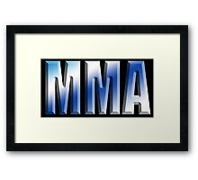 MMA, Mixed, Martial Art, Contest, Combat, Fight, Box, Ju Jitsu, Wrestle, Grapple Framed Print