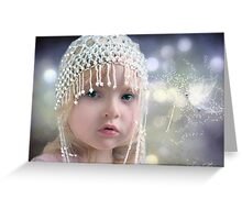 The girl with the beaded hat Greeting Card