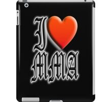 I love, MMA, Mixed, Martial Art, Contest, Combat, Fight, Box, Wrestle, Grapple iPad Case/Skin