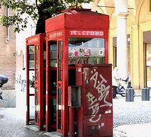 Red Phone Booth by Giulia