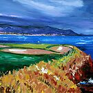 Pebble Beach 7th by Trisha Lamoreaux