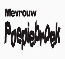 Mevrouw Poepiebroek by stuwdamdorp