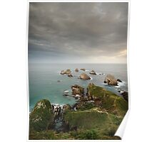 Sunset below Nugget Point Poster