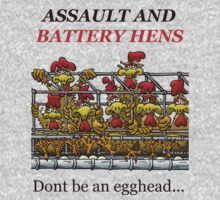 ASSUALT AND BATTERY HENS by NHR CARTOONS .