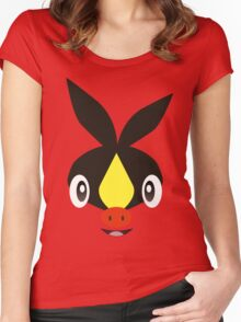 Pokemon - Tepig / Pokabu Women's Fitted Scoop T-Shirt