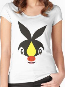 Pokemon - Tepig / Pokabu Women's Fitted Scoop T-Shirt