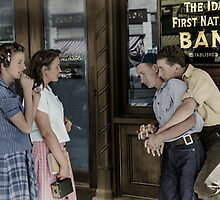 1941: Boys and girls. Caldwell, Idaho by Marie-Lou Chatel