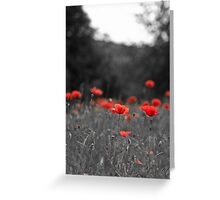 Selective Red Greeting Card