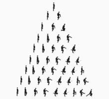 Silly Walk Pyramid by Rachel Miller