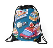 Food Truck Collection Drawstring Bag