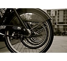 Bicycles in Docklands, Melbourne Photographic Print