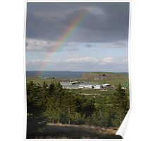 Rainbow over Buxton Poster