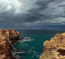 Cloudy Ocean View by 104paul