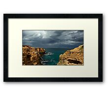 Cloudy Ocean View Framed Print