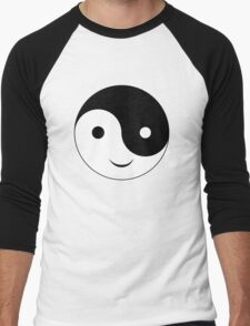 Smiley Yin Yang Men's Baseball ¾ T-Shirt