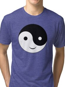 Smiley Yin Yang Tri-blend T-Shirt