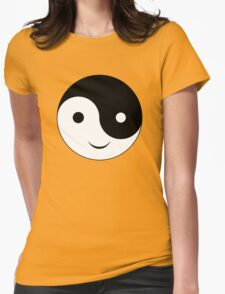 Smiley Yin Yang Womens Fitted T-Shirt