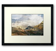 Alone but not Lonely. Framed Print