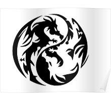 Dragon yin yang. Poster