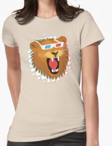 3D Lion Womens Fitted T-Shirt