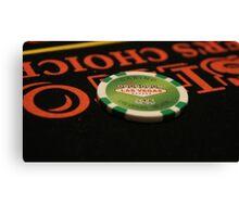 Poker Chip Canvas Print