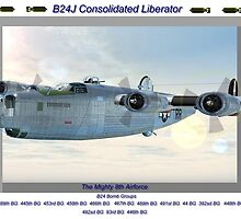 B24 bomb group poster by DTART3D