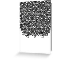 Many faces-Black and White Greeting Card