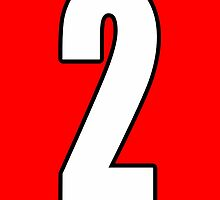 2, Two, Second, Number Two, Sport, Football, Soccer, Team, Number, Red, Devils by TOM HILL - Designer