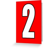 Football, Soccer, 2, Two, Second, Number Two, Sport, Team, Number, Red, Devils Greeting Card