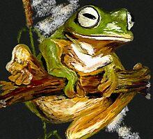 Frog on a Stick by LeonD